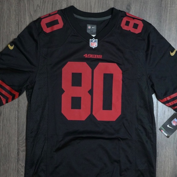 Nike Jerry Rice On Field Black 49ers Jersey #80